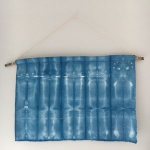 Indigo Dye Shibori Wall Hanging